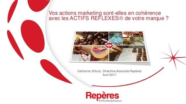 Vos actions marketing sont-elles en cohérence avec les ACTIFS REFLEXES de votre marque ? Catherine Schutz, Directrice Ass...