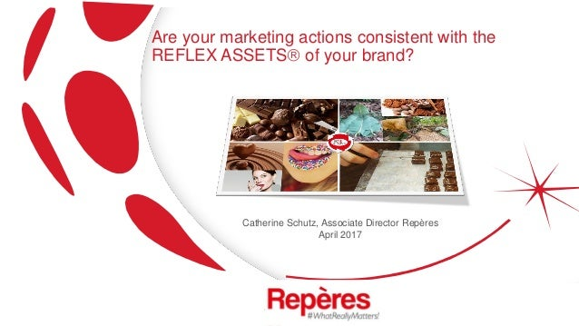 Are your marketing actions consistent with the REFLEX ASSETS of your brand? Catherine Schutz, Associate Director Repères ...