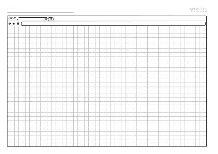 RePrint Browser Landscape (A4)