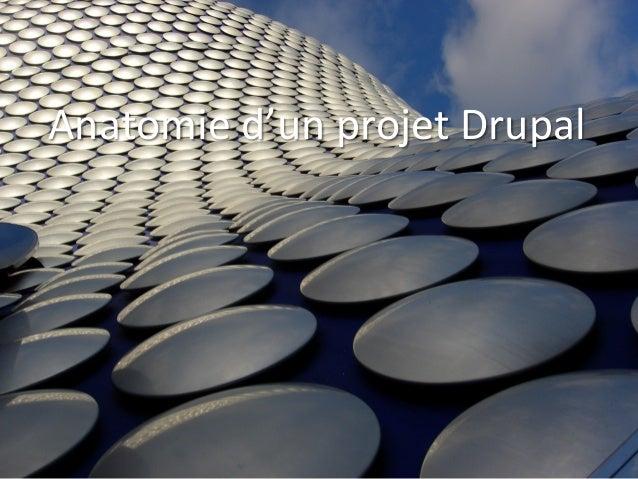 Anatomie  d'un  projet  Drupal    Présenta)on  Core-‐Techs  2012