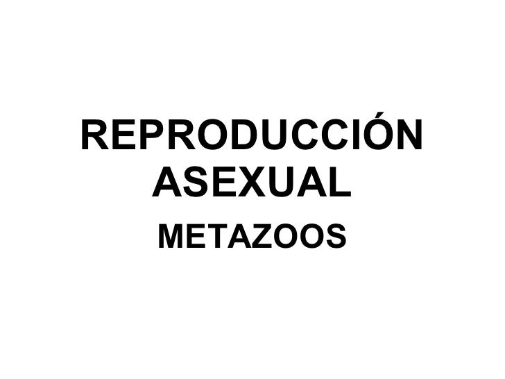 REPRODUCCIÓN ASEXUAL METAZOOS