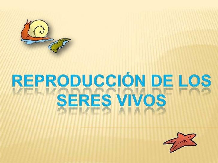 REPRODUCCIóN DE LOS SERES VIVOS<br />