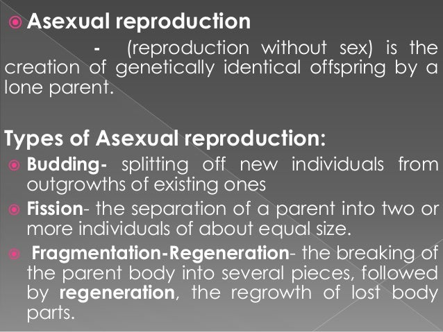 Advantages of asexual reproduction in cells fatty
