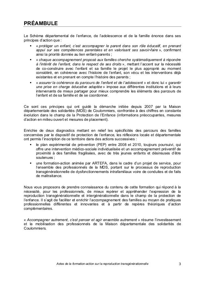 Reproduction transgenerationnelle referentiel artefa 2013 Slide 2