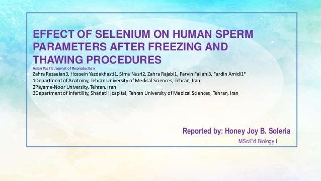 Selinium in sperm