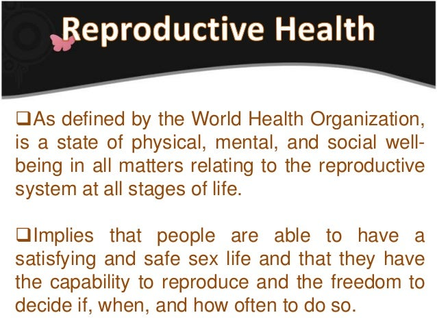 reproductive health bill 6 essay Responsible parenthood and reproductive health act (he focuses on the eugenics aspect in his essay  this is about the philippine reproductive health bill not.
