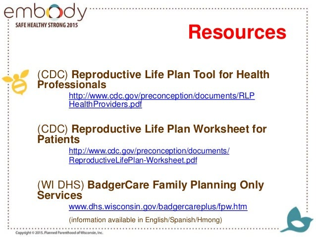 Reproductive Life Planning and Motivational Interviewing – Life Planning Worksheet