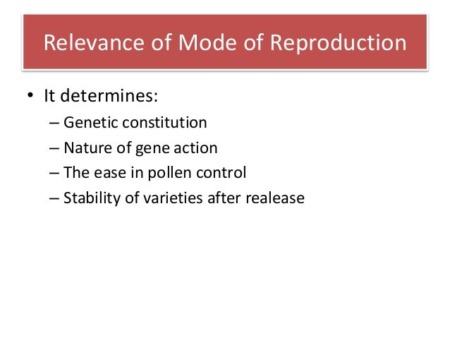 Reproductive system in plants