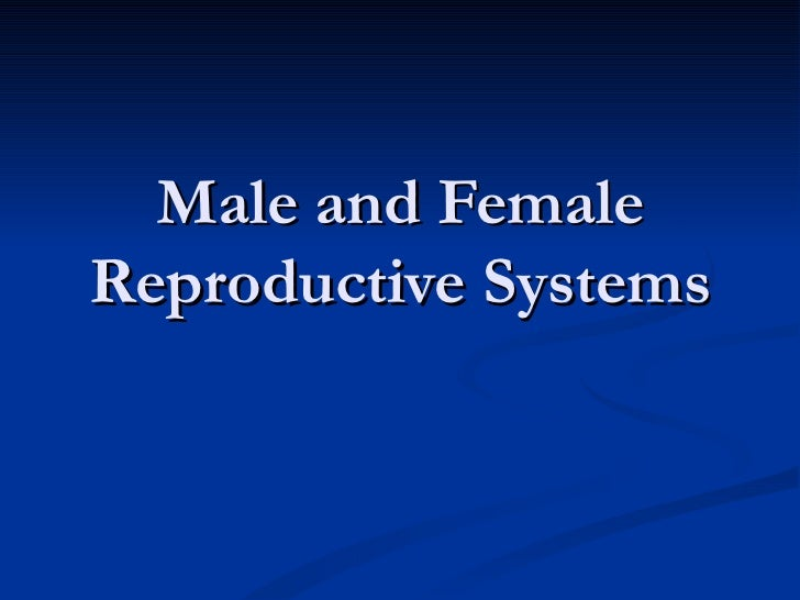 Male and FemaleReproductive Systems