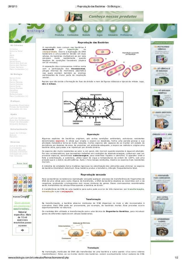 28/02/13                                                      .:: Reprodução das Bactérias - Só Biologia ::.              ...