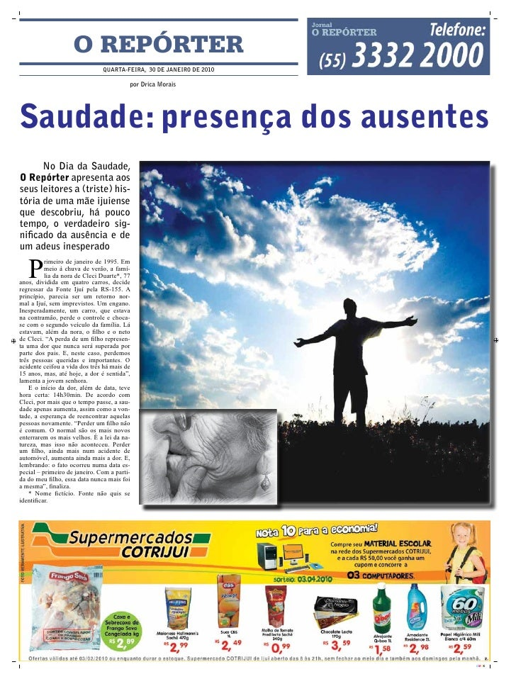O REPÓRTER                                qUARTA-FEIRA, 30 DE JANEIRO DE 2010                                           po...