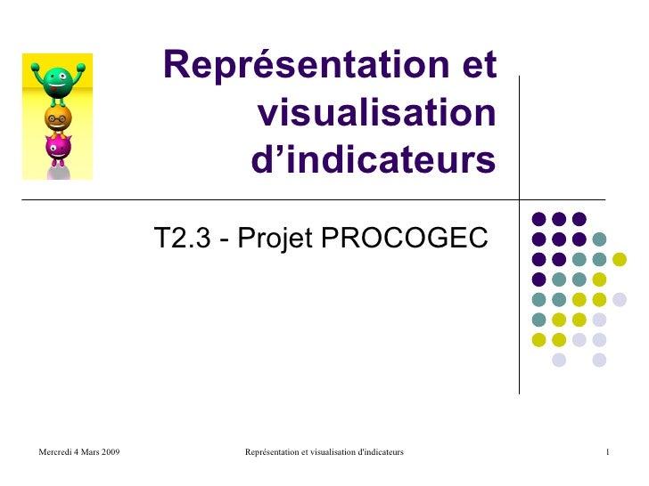 Représentation et                            visualisation                            d'indicateurs                       ...