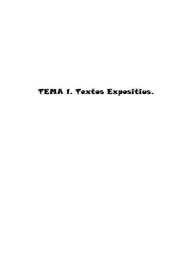 TEMA 1. Textos Expositius.