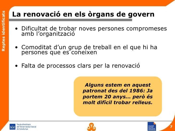 Els reptes dels rgans de govern a les entitats del tercer for Renovacio oficina de treball