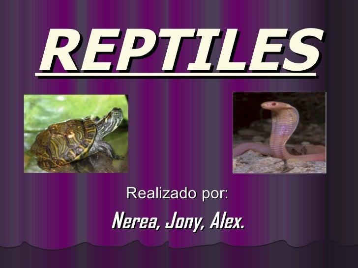 REPTILES   Realizado por: Nerea, Jony, Alex.