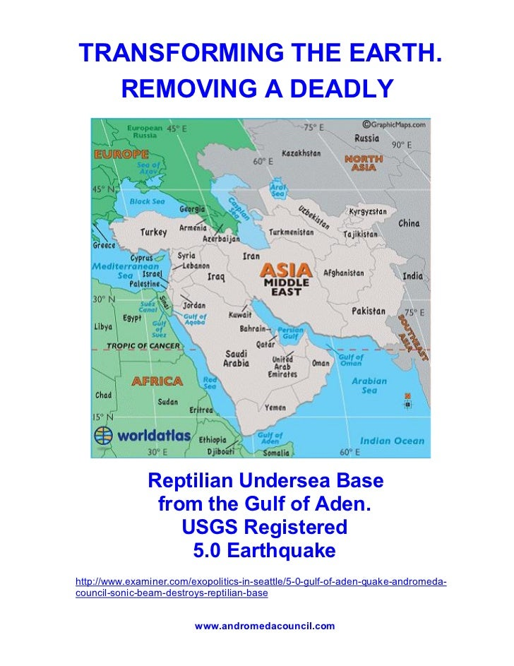 Reptilian Undersea Base Destroyed - 5.0 Quake Gulf of Aden