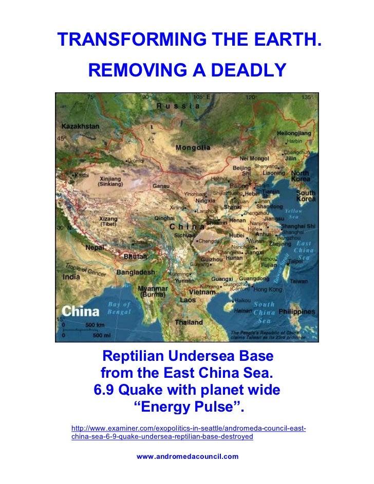 Reptilian Undersea Base Destroyed  69 Quake East China Sea