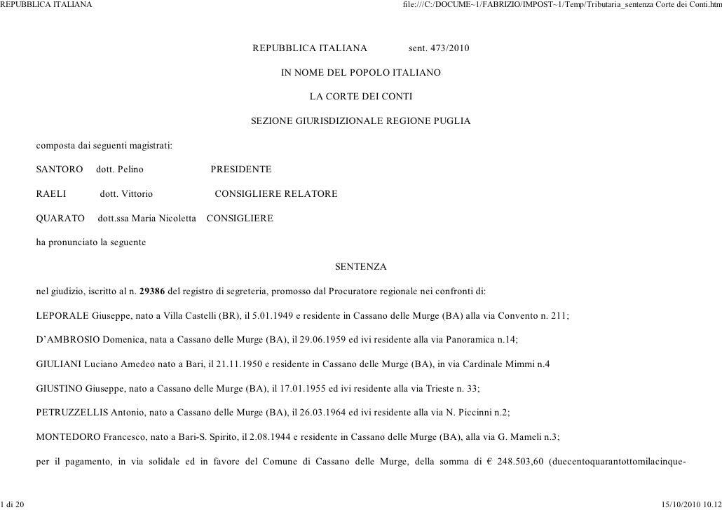 REPUBBLICA ITALIANA                                                                                    file:///C:/DOCUME~1...