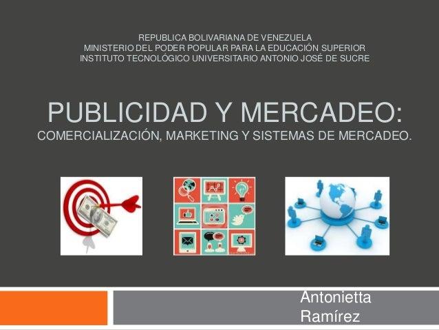 REPUBLICA BOLIVARIANA DE VENEZUELA MINISTERIO DEL PODER POPULAR PARA LA EDUCACIÓN SUPERIOR INSTITUTO TECNOLÓGICO UNIVERSIT...