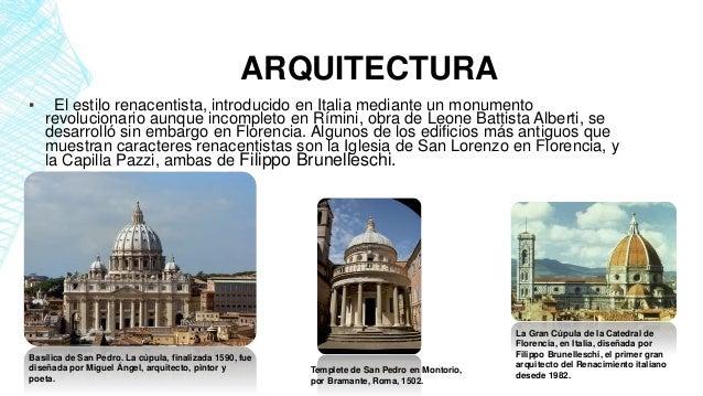 Historia de la arquitectura ii renacimiento for Caracteristicas de la arquitectura