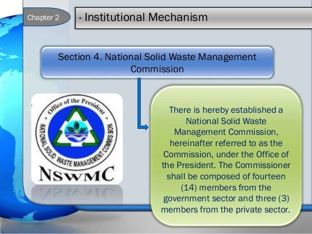 ecological solid waste management act of Ecological solid waste management act of 2000 ra 9003 describes solid waste management as a discipline associated with the control of generation, storage,.