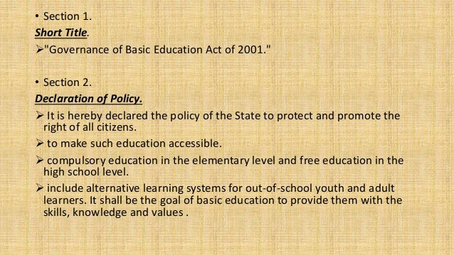 Republic Act No. 9155 Slide 3