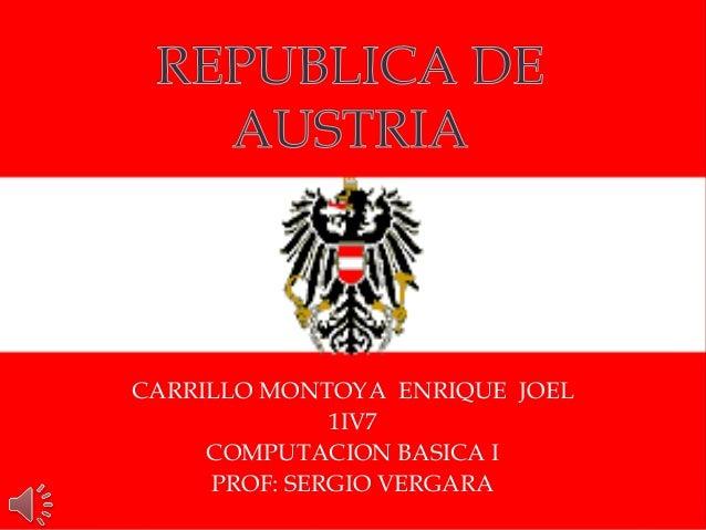CARRILLO MONTOYA ENRIQUE JOEL 1IV7 COMPUTACION BASICA I PROF: SERGIO VERGARA
