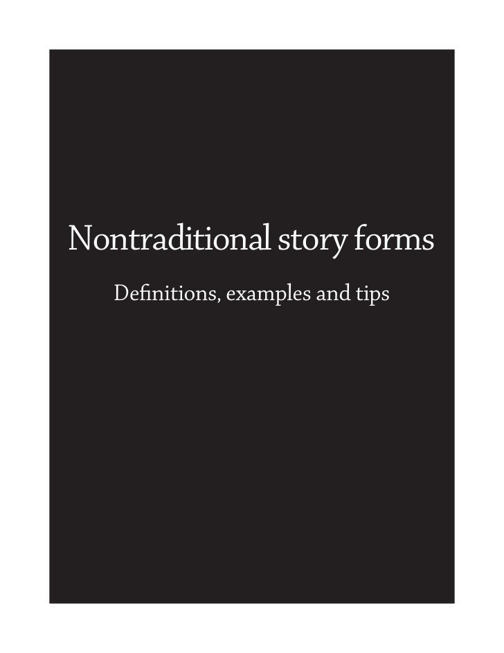 Nontraditional story forms   Definitions, examples and tips