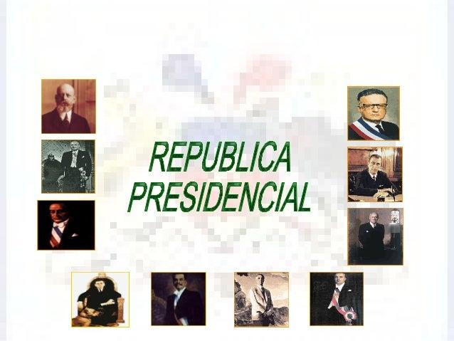 La promulgación de una nueva Constitución, conocida comola Constitución de 1925, puso término al parlamentarismo,estableci...