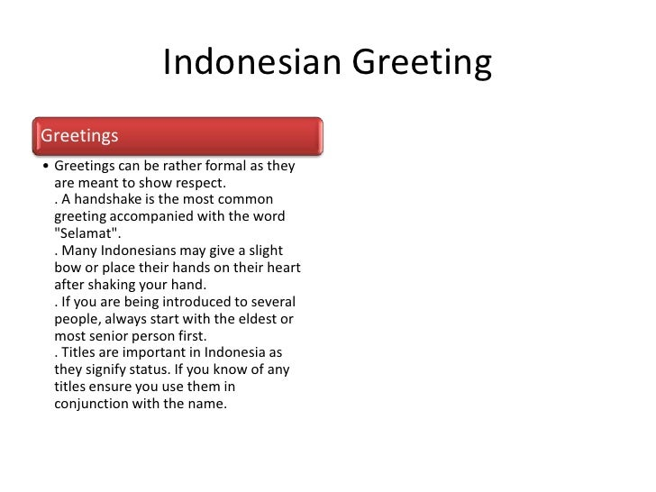 Republic of indonesia indonesian greetinggreetings greetings m4hsunfo