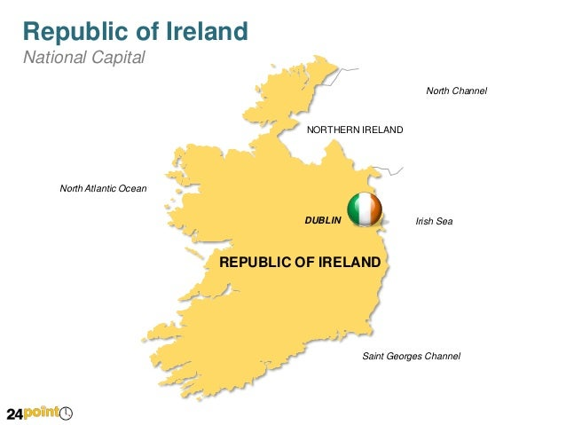 Editable Map Of Republic Of Ireland For Ppt Presentations