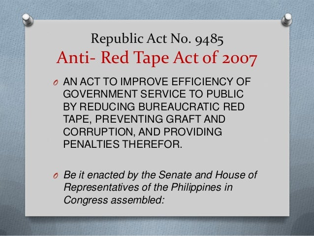 What Is Red Tape Power Point Presentation From Mindanao