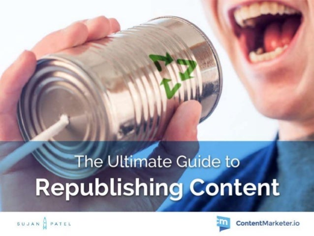 Guide to Republishing Content