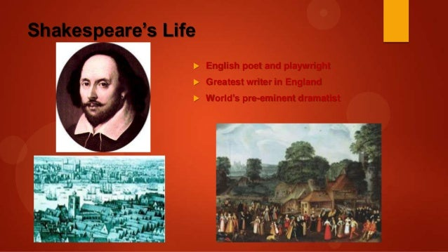 Repurposed slides of William Shakespeare's historical background slid…