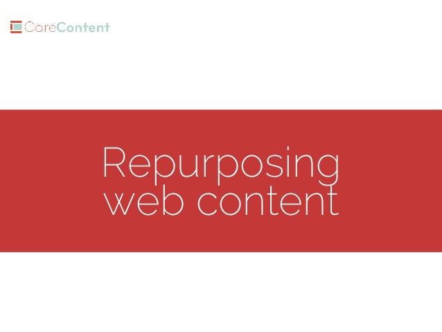 Repurposing web content