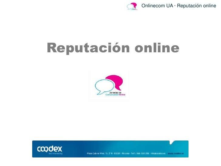 Onlinecom UA · Reputación onlineReputación online