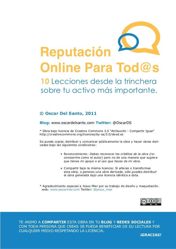 Reputacion Online Para Tod@s (1ª edición) Slide 3