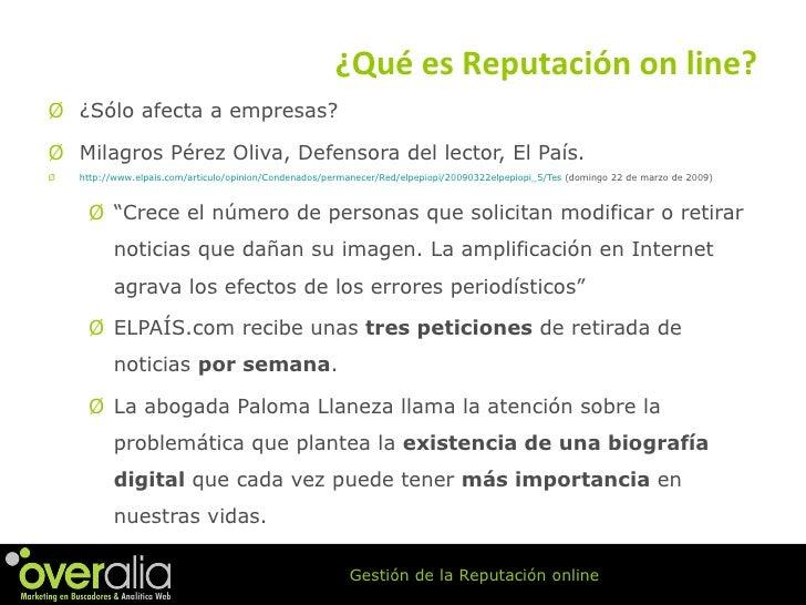 <ul><li>¿S ólo afecta a empresas? </li></ul><ul><li>Milagros P érez Oliva, Defensora del lector, El País. </li></ul><ul><l...