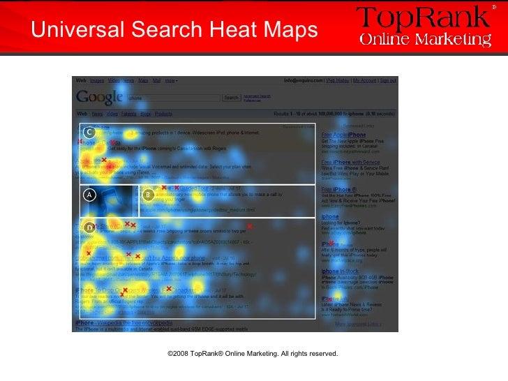 Universal Search Heat Maps