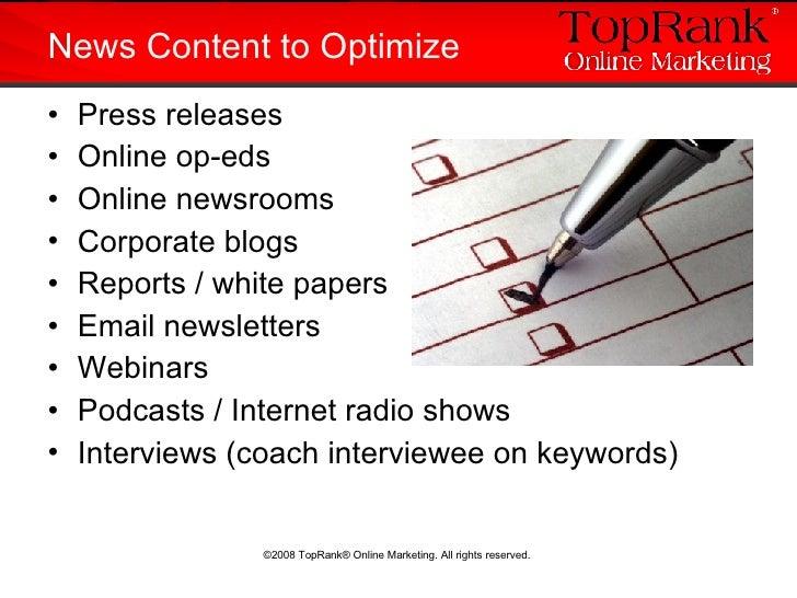 <ul><li>Press releases </li></ul><ul><li>Online op-eds </li></ul><ul><li>Online newsrooms </li></ul><ul><li>Corporate blog...