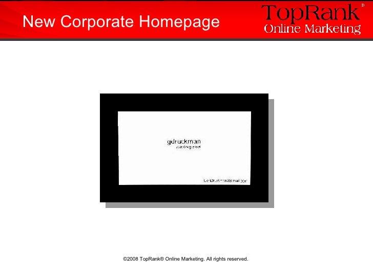 New Corporate Homepage