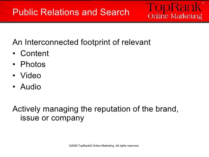 <ul><li>An Interconnected footprint of relevant  </li></ul><ul><li>Content </li></ul><ul><li>Photos </li></ul><ul><li>Vide...