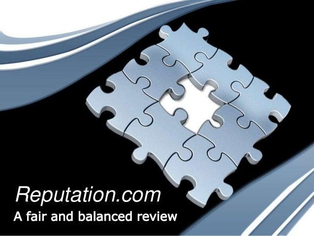Reputation.com A fair and balanced review