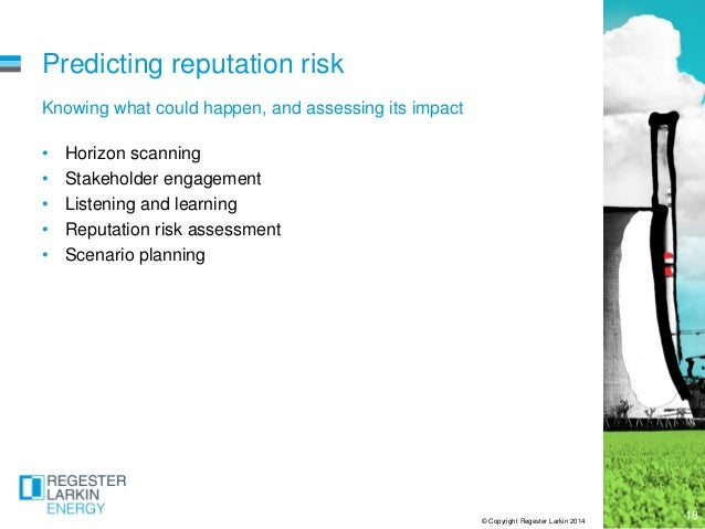 managing risk to reputation a The reputation of deutsche bank is founded on trust from its employees,   framework to manage reputational risk in 2015 which embodies the.