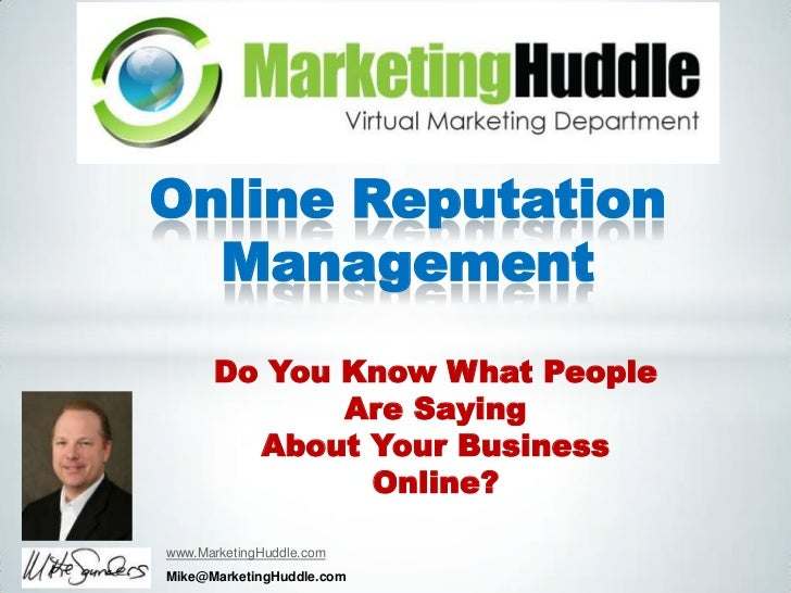 Online Reputation  Management      Do You Know What People             Are Saying        About Your Business              ...