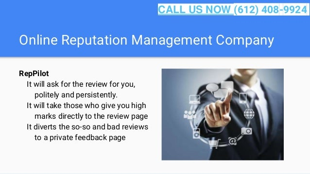 Online Reputation Management Company RepPilot It will ask for the review for you, politely and persistently. It will take ...