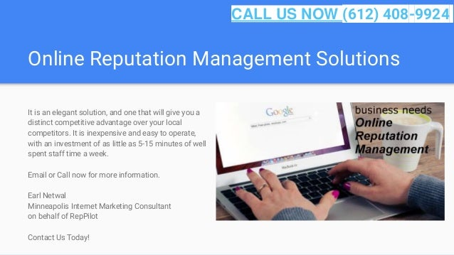 Online Reputation Management Solutions It is an elegant solution, and one that will give you a distinct competitive advant...