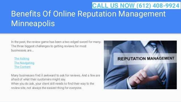 Benefits Of Online Reputation Management Minneapolis In the past, the review game has been a two edged sword for many. The...
