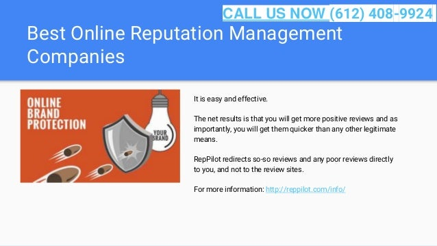 Best Online Reputation Management Companies It is easy and effective. The net results is that you will get more positive r...