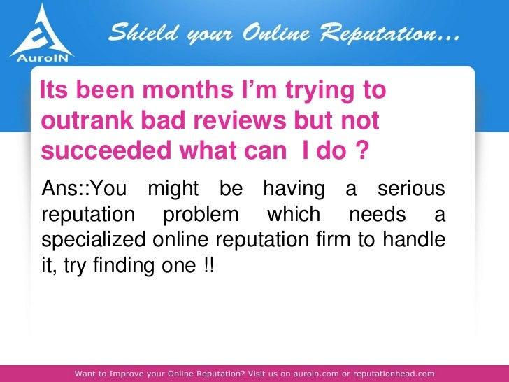 Reputation Management: A Holistic Business Tool slideshare - 웹